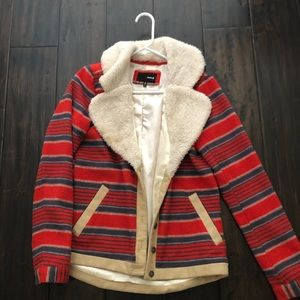 Hurley red winter coat